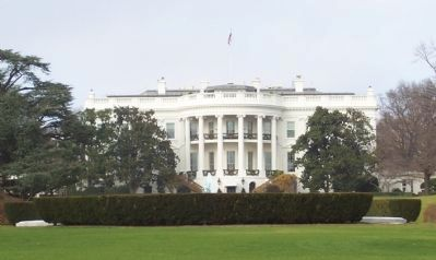 The White House - viewed from the Ellipse at the Kitchen Garden Marker image. Click for full size.