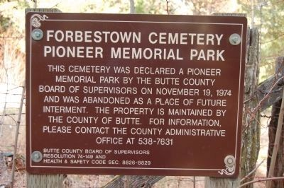 Forbestown Cemetery image. Click for full size.