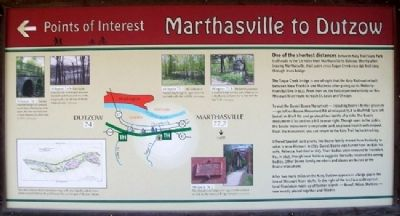 Marthasville to Dutzow Marker image. Click for full size.