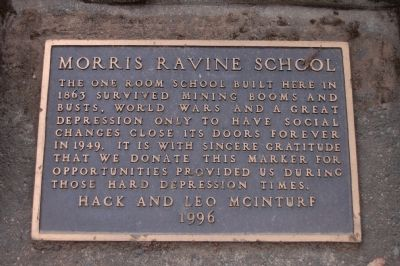 Morris Ravine School Marker image. Click for full size.