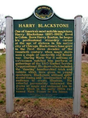 Colon / Harry Blackstone Marker (back) Photo, Click for full size