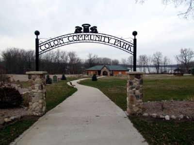 Front Entrance to Colon Community Park Photo, Click for full size