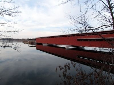 Langley Covered Bridge image. Click for full size.