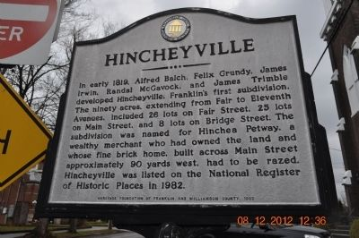 Hincheyville Marker image. Click for full size.