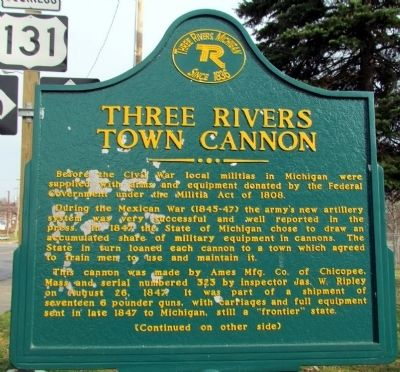Three Rivers Town Cannon Marker image. Click for full size.