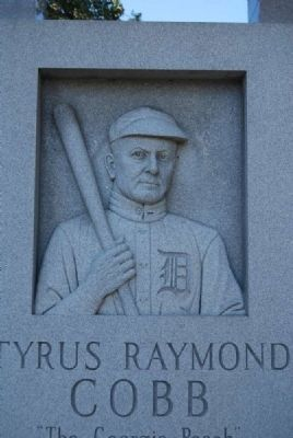 Tyrus Raymond Cobb Monument<br>South Side (Sculpture) image. Click for full size.