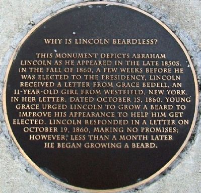 Why Is Lincoln Beardless? Marker image. Click for full size.