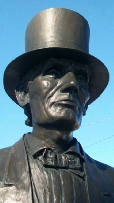 The Beardless Lincoln Statue Detail image. Click for full size.