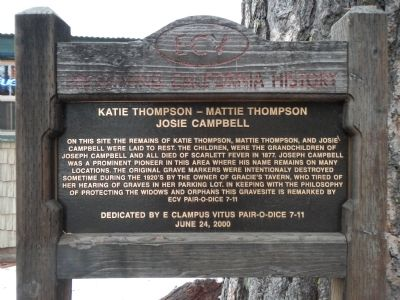 Katie Thompson – Mattie Thompson – Josie Campbell Marker image. Click for full size.