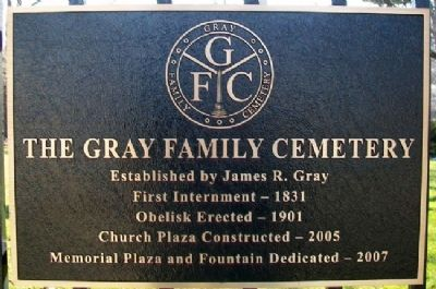 The Gray Family Cemetery Marker image. Click for full size.
