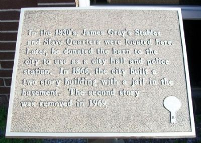 James Gray's Stables and Slave Quarters Marker image. Click for full size.