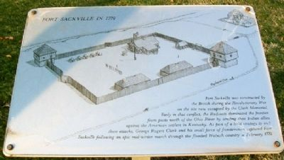 Fort Sackville in 1779 Marker image. Click for full size.