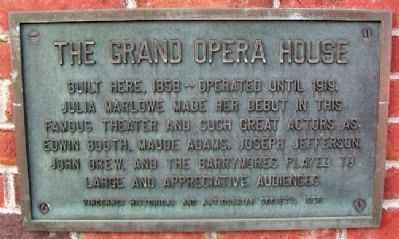 The Grand Opera House Marker image. Click for full size.
