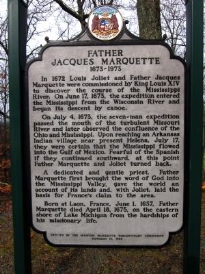 Father Jacques Marquette Marker image. Click for full size.