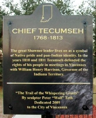 Chief Tecumseh Marker image. Click for full size.