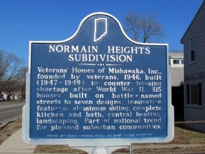Normain Heights Subdivision Marker image. Click for full size.