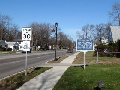 Normain Heights Subdivision Marker Along N. Main Street image. Click for full size.
