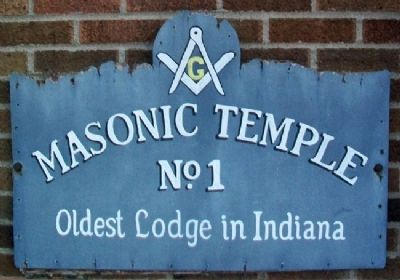 Oldest Lodge in Indiana Marker image. Click for full size.