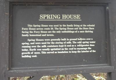 Spring House Marker image. Click for full size.
