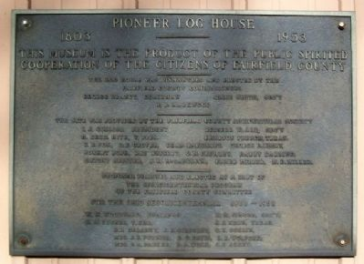 Pioneer Log House Marker image. Click for full size.