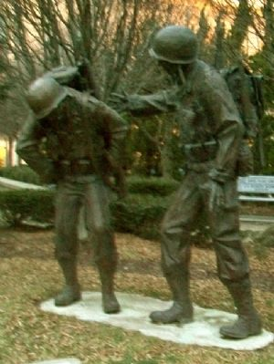 World War II and Korean War Memorial image. Click for full size.