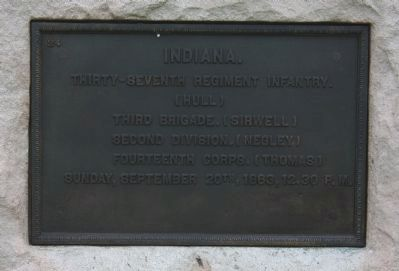 37th Indiana Infantry Marker image. Click for full size.