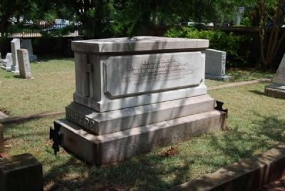 Ellison and Rebecca Capers Tombstone<br>Northeast Corner<br>Trinity Episcopal Church, Columbia, S.C. image. Click for full size.