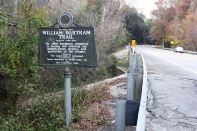 William Bartram Trail Marker, looking north along William Bartram Scenic Highway (State Road 13) image. Click for full size.