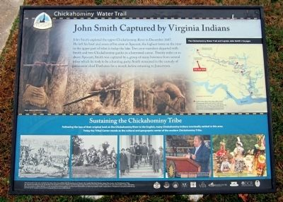 John Smith Captured by Virginia Indians Marker image. Click for full size.