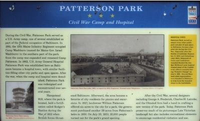 Patterson Park Marker image. Click for full size.