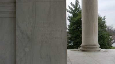 Thomas Jefferson Memorial Cornerstone image. Click for full size.