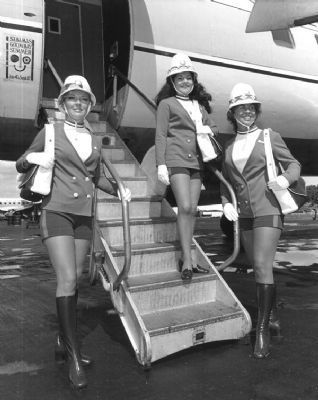 Mackey Airlines Stewardesses image. Click for full size.