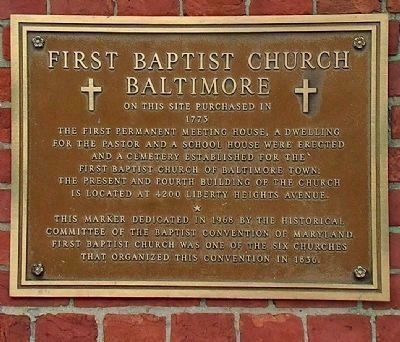 First Baptist Church Baltimore image. Click for full size.