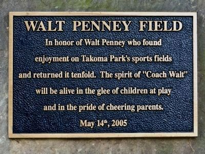 Walt Penney Field Marker image. Click for full size.
