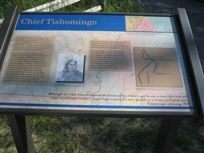 Chief Tishomingo Marker Photo, Click for full size