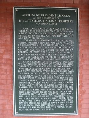 Gettysburg Address Marker image. Click for full size.