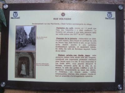 Rue Voltaire Marker image. Click for full size.