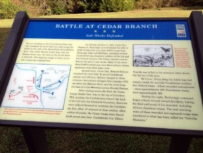 Battle at Cedar Branch Marker image. Click for full size.