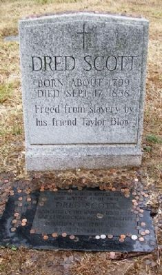 Dred Scott Marker (front) image. Click for full size.