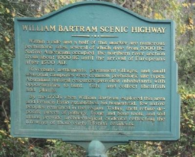 William Bartram Scenic Highway Marker image. Click for full size.