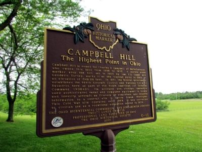 Campbell Hill Marker image. Click for full size.
