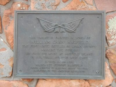 William Shaw Hadfield Marker image. Click for full size.