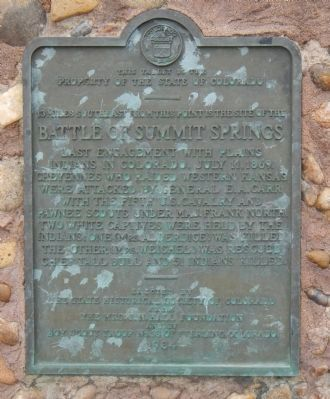 Battle of Summit Springs Marker image. Click for full size.
