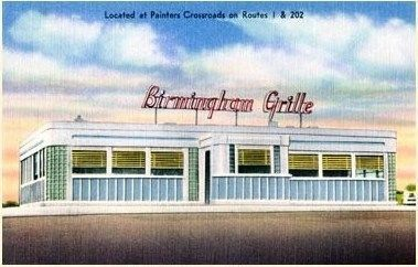 This is the Birmingham Diner at its original Location - Post Card image. Click for full size.