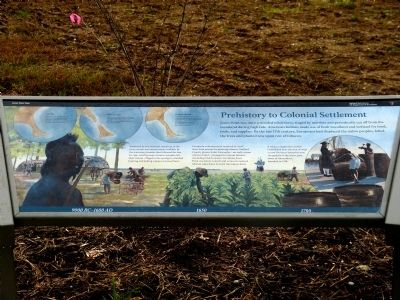 Prehistory to Colonial Settlement Marker image. Click for full size.