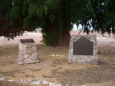 Site of Rancho El Tecolote Marker <i>(on the right)</i> image. Click for full size.