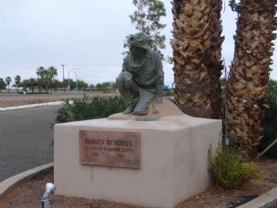 Mobley Meadows Marker and Statue image. Click for full size.