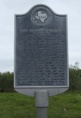 Fort Graham Cemetery Marker image. Click for full size.