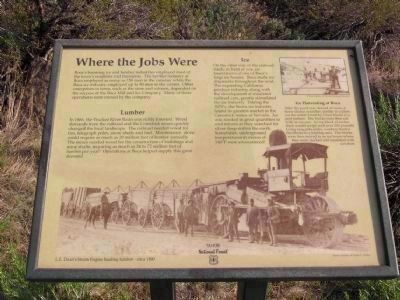 Boca Townsite Marker #3 - Where the Jobs Were image. Click for full size.