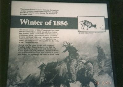 Winter of 1886 Marker image. Click for full size.